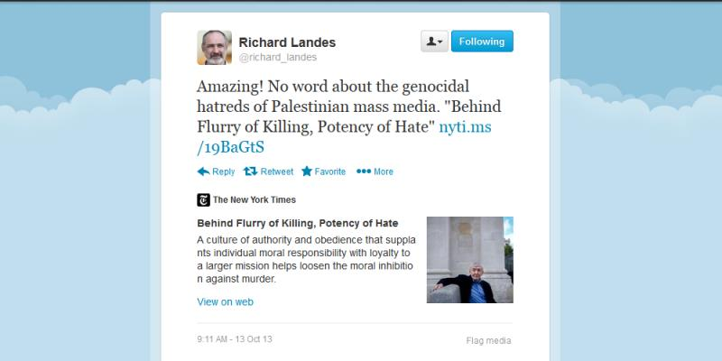 Richard_Landes_Palestinian_Hatred_Ignored