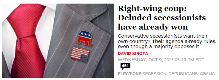 Salon.com Deluded Secessionists