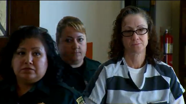 Marla Abling, held on $150,000 bail and awaiting first degree murder trial.