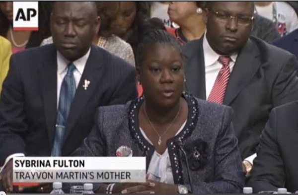 Senate Hearing Stand Your Ground Sybrina Fulton