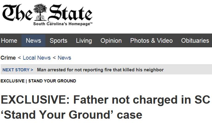 The State SC Stand Your Ground Headline
