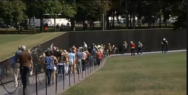Vietnam Memorial Vets and families