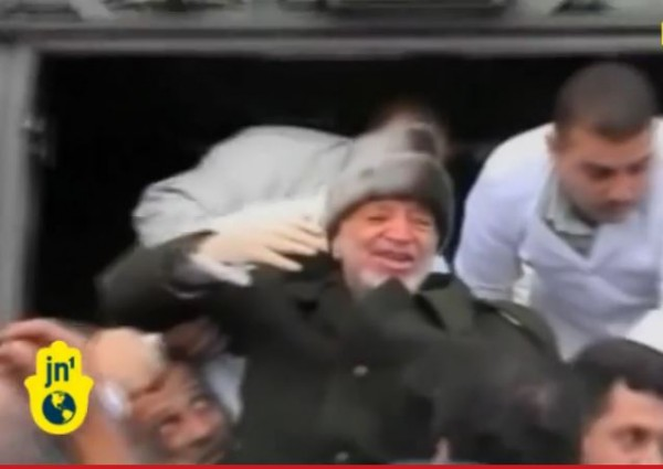 Arafat being carried ill
