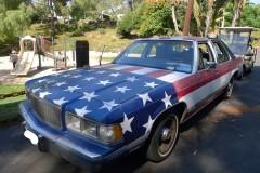 Bumper Sticker - Malibu - Front Flag Car