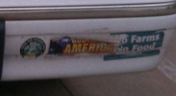 Bumper Stickers - North Texas - Cowboy White House right