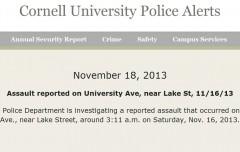 Cornell Police Alert 11-18-2013 lg