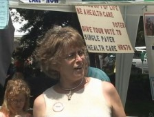 Martha Robertson at single payer rally 2009