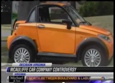 McAuliffe Car Controversy Screen Shot