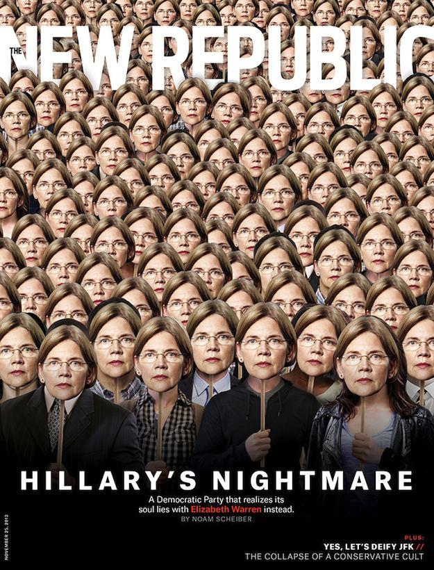 New Republic Cover Elizabeth Warren Hillary's Nightmare