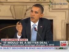 Obama Feb 25 2010 loss of coverage