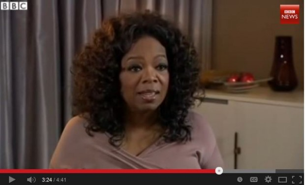 Oprah inside BBC interview