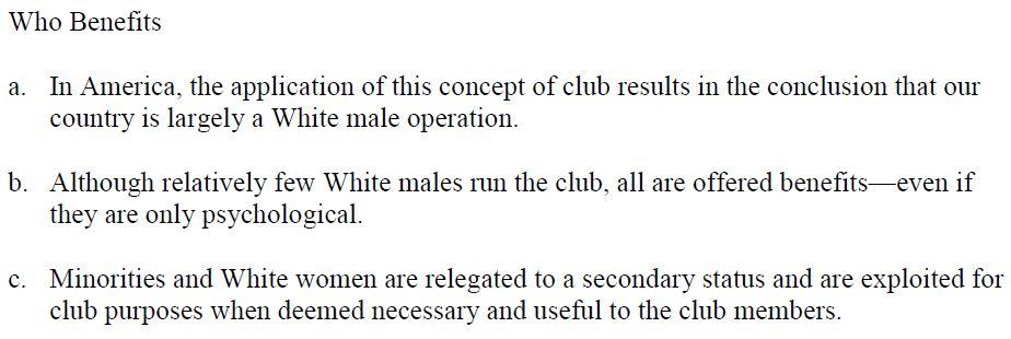 Pentagon manual white male club