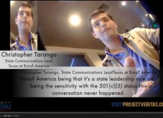 Project Veritas Video No3  Enroll America screen shot Chris Tarango