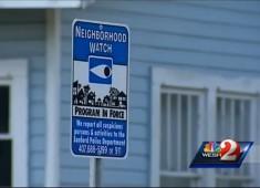 Sanford FL Neighborhood Watch sign