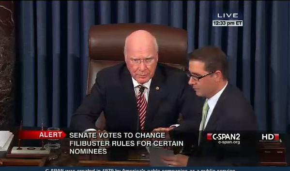 Senate Filibuster Rule Change Vote 11-21-2013