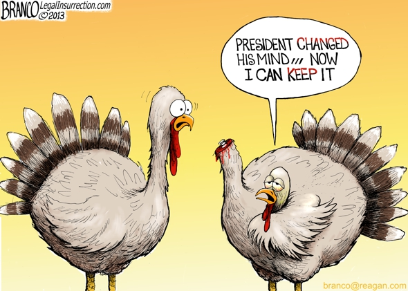 Presidential Turkey Pardon Political cartoon