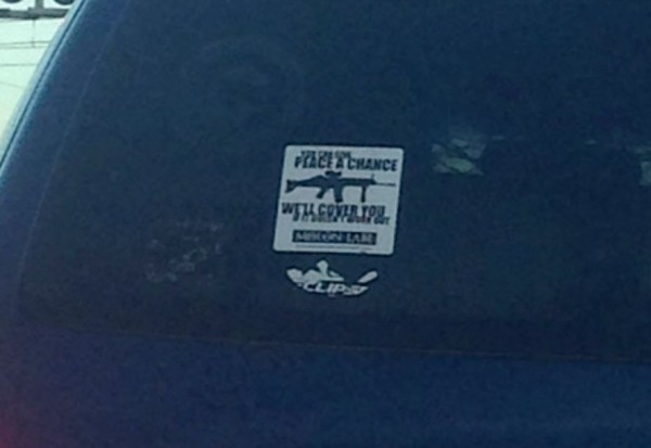 Bumper Sticker - Maryland - Give Peace A Chance
