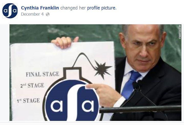 Cynthia Franklin Profile Netanyahu ASA Bomb