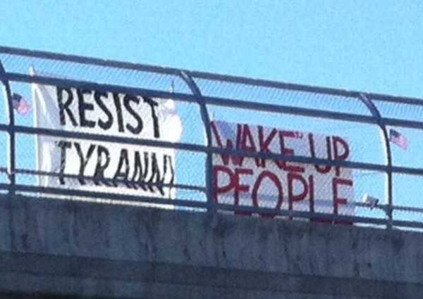 East St. Louis Overpass Anti Obama Signs 3