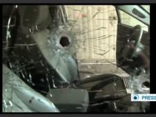 Hezbollah Commander Car Bullet Hole 12-2013