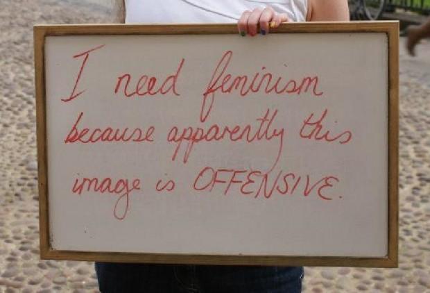 I Need Feminism Sign
