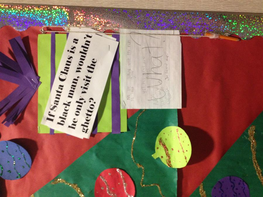 Indiana Black Santa display