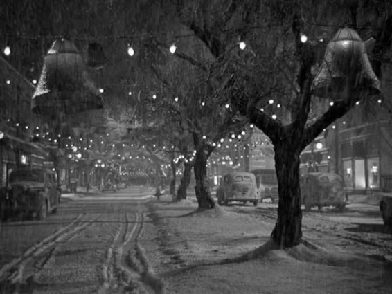 It's a wonderful life street snow