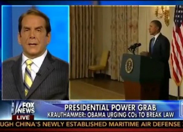 Krauthammer Obama Lawlessness Fox News