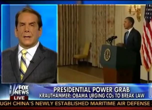Krauthammer Obama Lawlessness Fox News