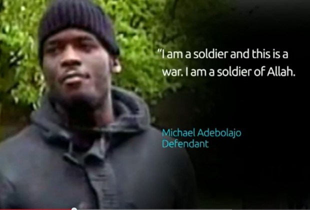 London Machete Murderer at trial I am a soldier