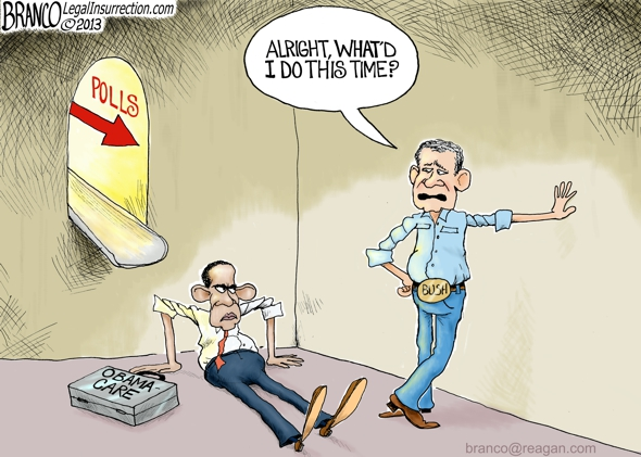 Obama Poll Numbers Political Cartoon