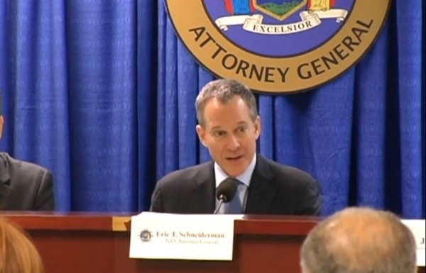 NY State AG Schneiderman Charities Press Conference