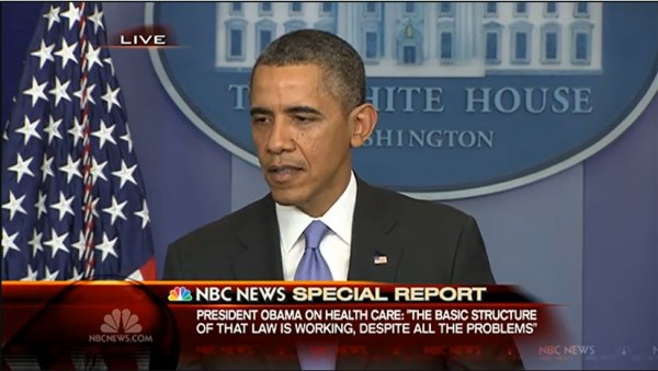 Obama Press Conf 12-20-2013 law working