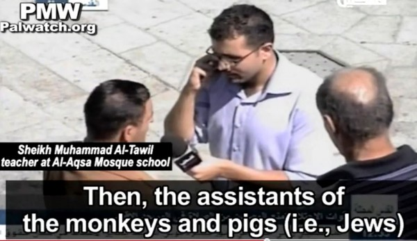 Palestinian teacher monkeys and pigs
