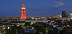 UT-Austin at night via Facebook