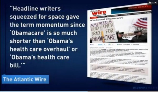 Who invented Obamacare term screen cap