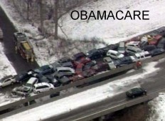 Winter pile up PA Tpke - OBAMACARE