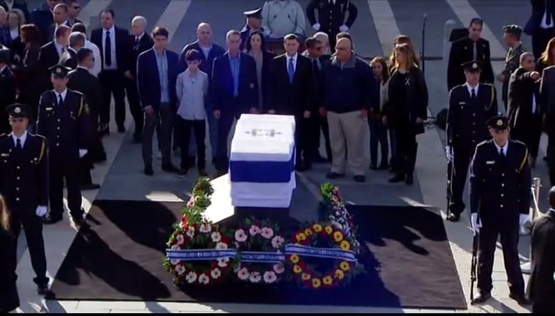 (Ariel Sharon Family at Funeral)