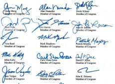 Congressional Boycott Letter - Image of Signatures