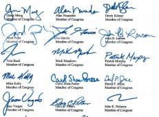 Congressional Boycott Letter - Image of Signatures