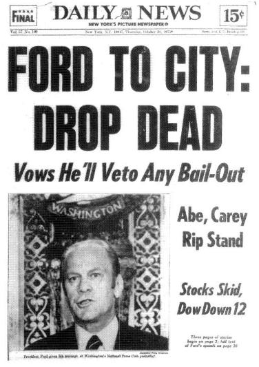Ford to NYC Drop Dead