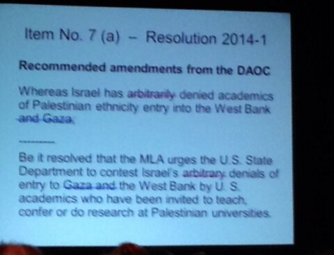 MLA Original Resolution as Modified at Delegate Conference