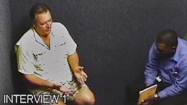 Michael Dunn being interviewed by police after his arrest