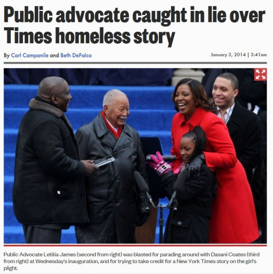 NY Post Letitia James caught in lie