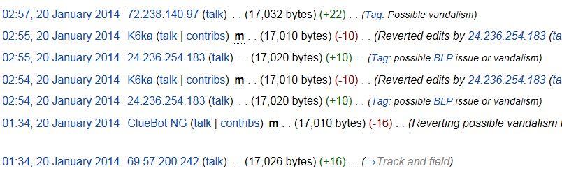 Richard Sherman Wikipedia Page History