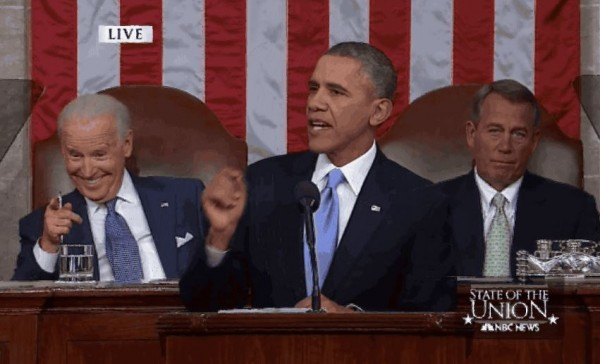 State of the Union 2014 Biden Smirk