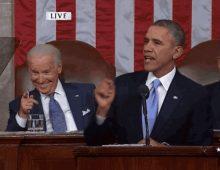 State of the Union 2014 Biden Smirk