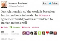Twitter - Rouhani - Surrender