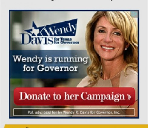 Wendy Davis Ad Legal Insurrection Sidebar x Large