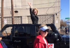 Wendy Davis Car Parade cropped